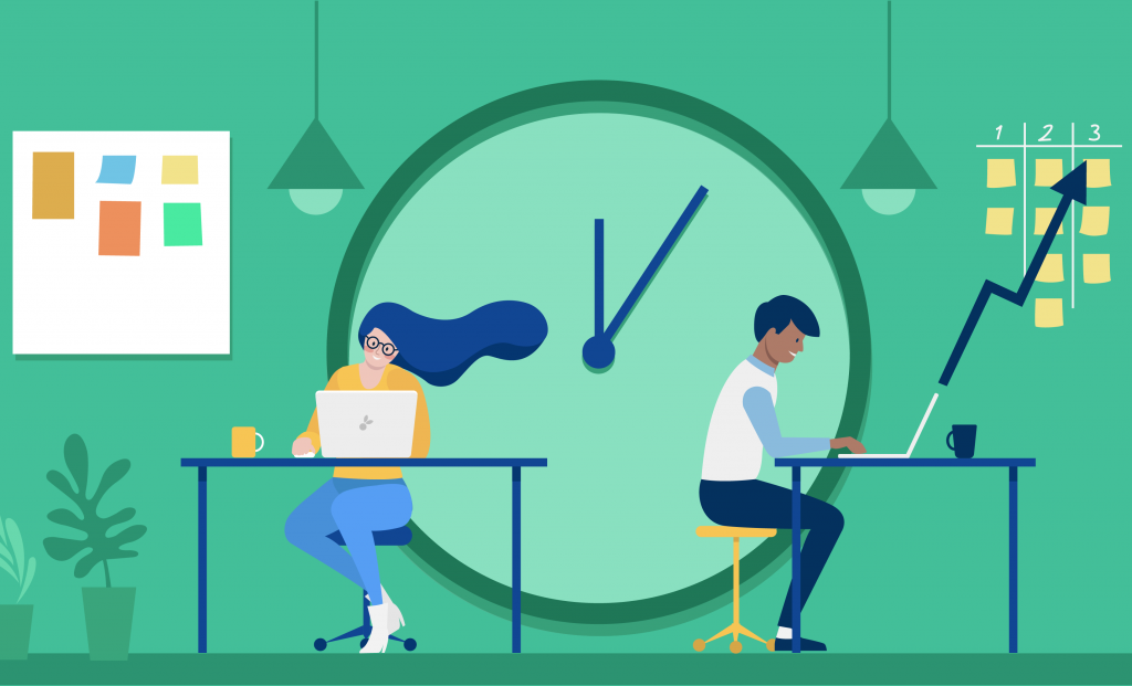 Attention management and procrastination: productivity is seen as being busy all the time