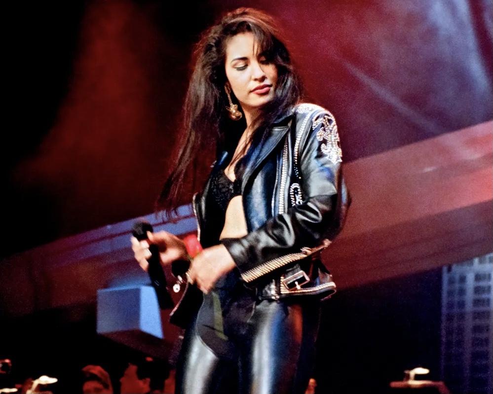 SAN ANTONIO, TX — Selena performs at the Tejano Music Awards in March 1994. Photo Credit: Al Rendon.