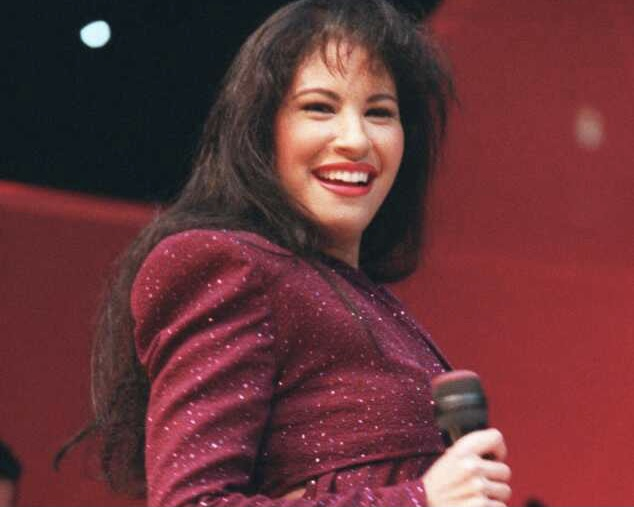 HOUSTON, TX — Selena performs to over 66,000 fans at the Houston Astrodome in Feb. 1995. Photo Credit: Houston Chronicle / John Everett.