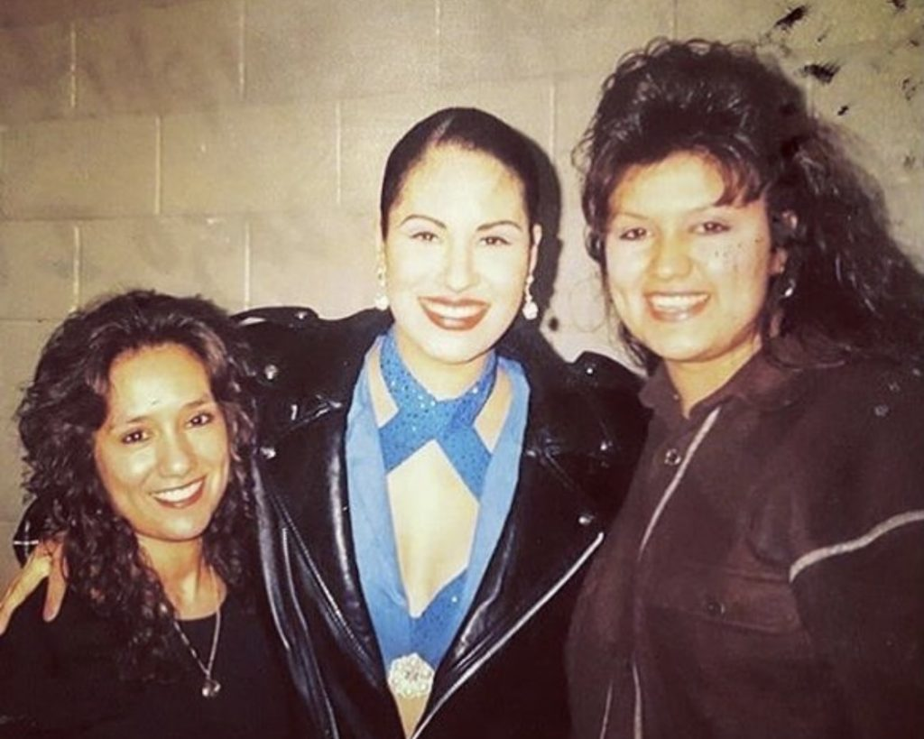 CHICAGO, IL — Selena pictured with fans following a performance at Chicago's International Amphitheater in March 1995. Photo Credit: Instagram.